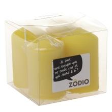 Achat en ligne 4 bougies votives moutarde 6,5x4cm