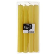 Achat en ligne 4 bougies droites moutarde 18cm