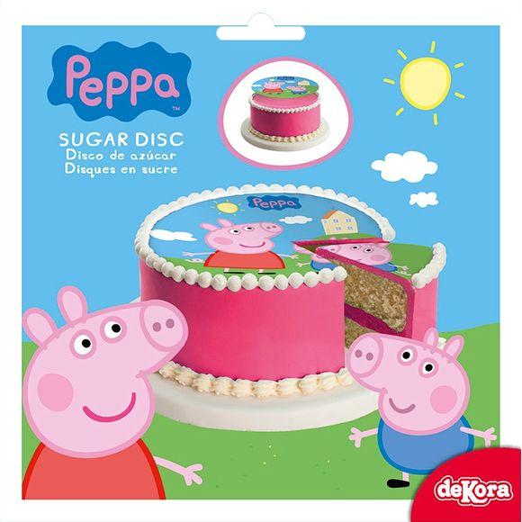 Disque de décoration en sucre Peppa Pig 16cm 48g