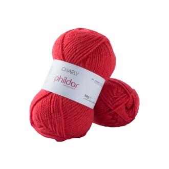 Pelote de laine charly coquelicot 50g