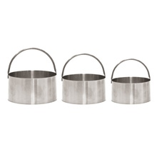 Achat en ligne Set de 3 emporte-pièces ronds en inox