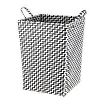 Achat en ligne Panier à linge avec anses tressé noir et blanc
