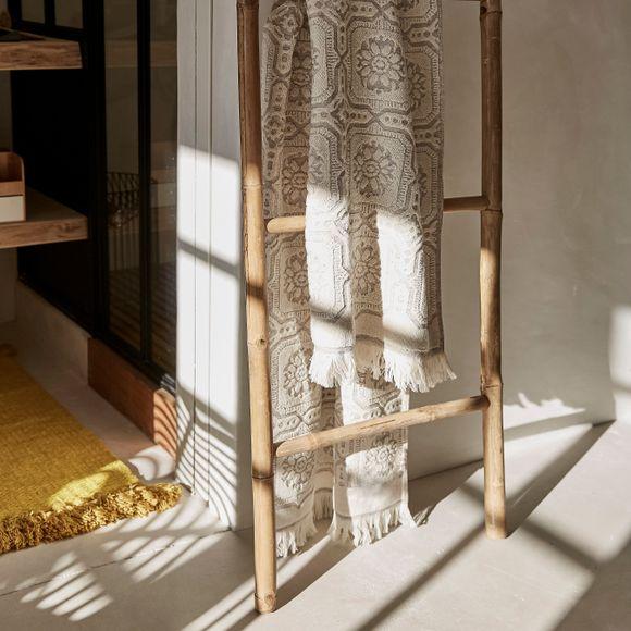 Echelle de salle de bain en bambou naturel 50x180cm