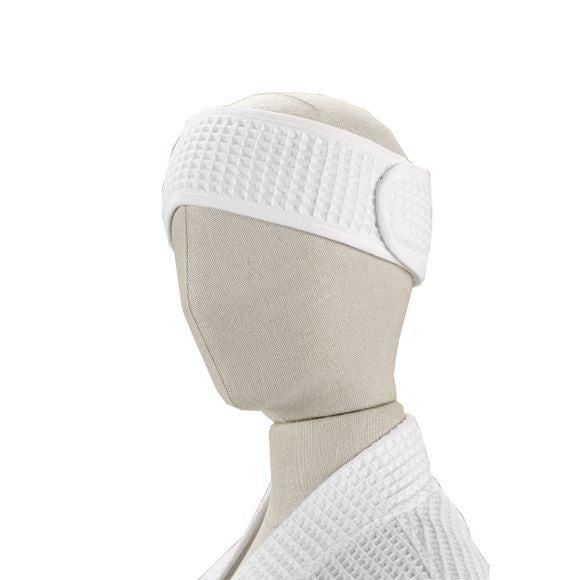 Bandeau de cheveux en coton nid d'abeille blanc