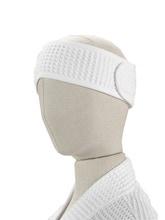 Achat en ligne Bandeau de cheveux en coton nid d'abeille blanc