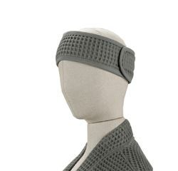 Achat en ligne Bandeau de cheveux en coton nid d'abeille gris souris