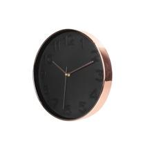 Achat en ligne Horloge noire cuivrée 30cm