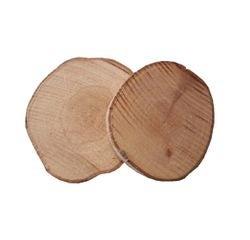 Achat en ligne Lot de 5 tranches de bois rondes naturelles