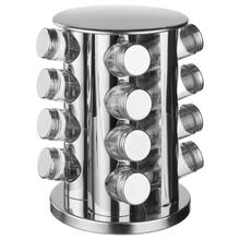 Achat en ligne 16 pots à épices avec support rotatif
