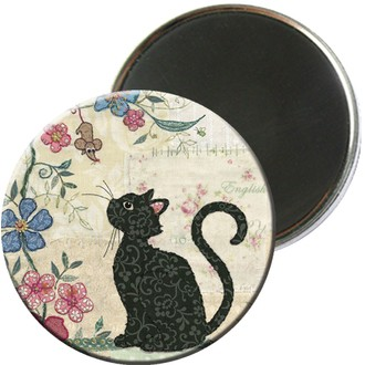 Magnet rond chat
