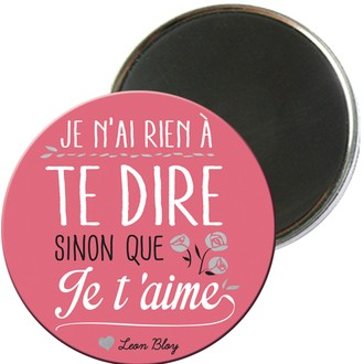 Magnet rond je t'aime