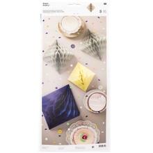 Achat en ligne Set de 3 diamant en papier en nid d'abeille bleu