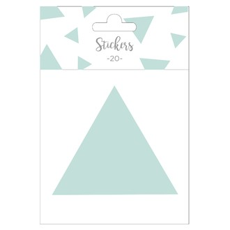 Set de 20 stickers triangles verts 9 cm