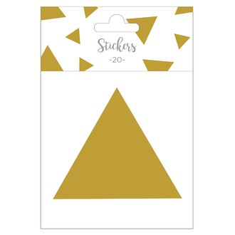 Set de 20 stickers triangles dorés 9 cm