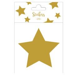 Achat en ligne Set de 20 stickers étoiles dorées 5 cm