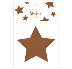 Achat en ligne Set de 20 stickers étoiles cuivres 5 cm