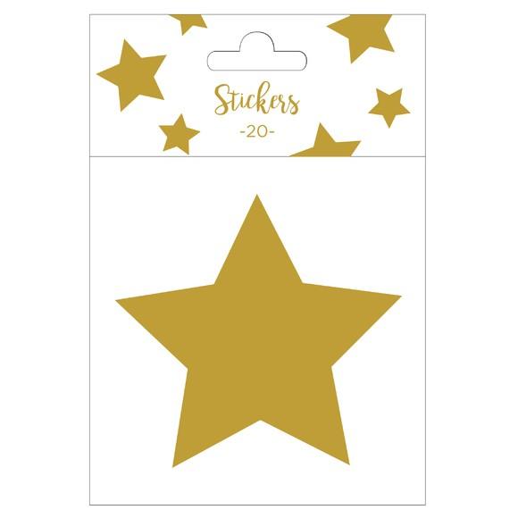Achat en ligne Set de 20 stickers étoiles dorées 9 cm