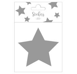 Achat en ligne Set de 20 stickers étoiles argentées 9 cm