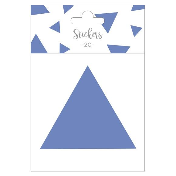 Set de 20 stickers triangles bleus 5 cm