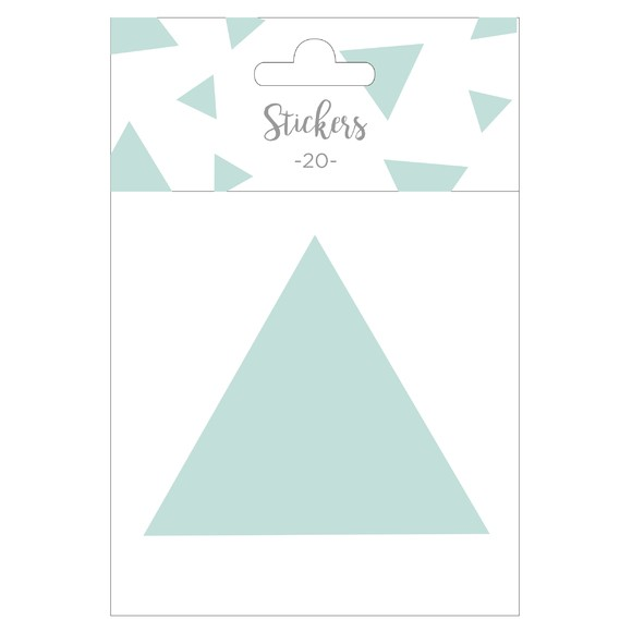 Set de 20 stickers triangles verts 5 cm