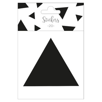 Set de 20 stickers triangles noir 5 cm