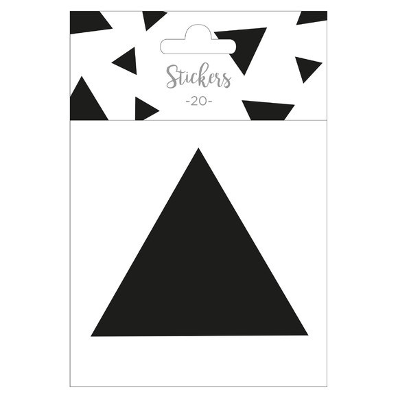 Achat en ligne Set de 20 stickers triangles noir 5 cm