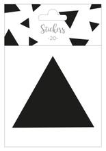 Achat en ligne Set de 20 stickers triangles noir 5 cm