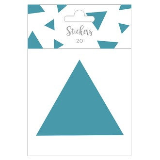Set de 20 stickers triangles bleus 5 cm