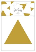 Achat en ligne Set de 20 stickers triangles dorés 5 cm