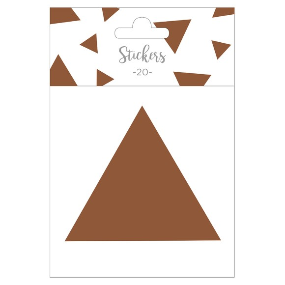 Set de 20 stickers triangles cuivres 5 cm