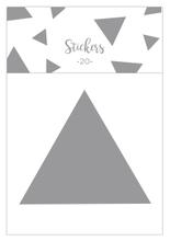 Achat en ligne Set de 20 stickers triangles argentés 5 cm