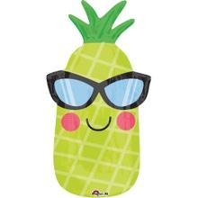 Achat en ligne Ballon mylar ananas 30x66 cmgonflage à l'air ou à helium