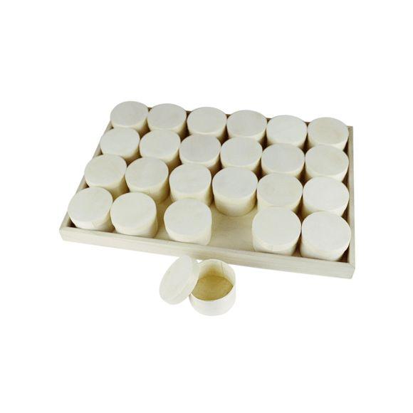 Achat en ligne Calendrier de l'avent 24 boîtes sur plateau bois 26x38x2,5cm