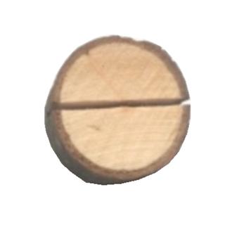 Marques place rondin de bois, en sachet de 4