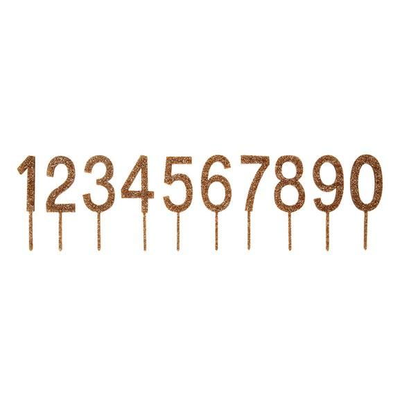 acquista online Pics cifre glitter dorate da decoro