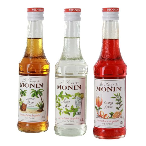 Coffret de sirops cocktail Mojito, Rhum, Pina Colada, 3x25cl