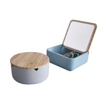Achat en ligne Boite à bijoux avec couvercle miroir en bois tempête
