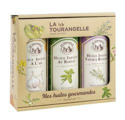 compra en línea 3 aceites aromatizados: ajo, albahaca y tomillo-romero (250 ml)