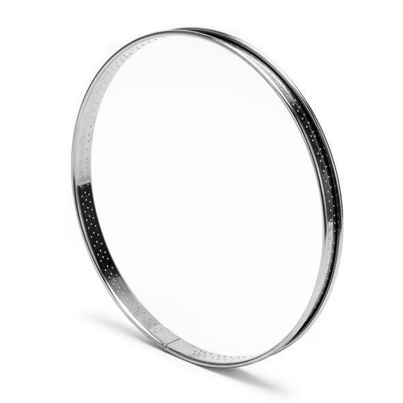 Cerchio per torta inox perforato bordo arrotondato Ø24cm