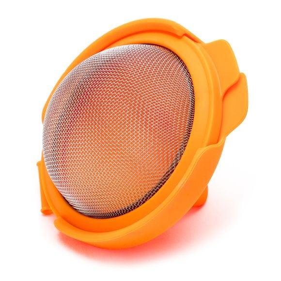 stampo per uova in silicone e acciaio inox arancio
