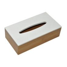 Achat en ligne Boite à mouchoirs en bambou, couvercle blanc 25x13,5x7cm