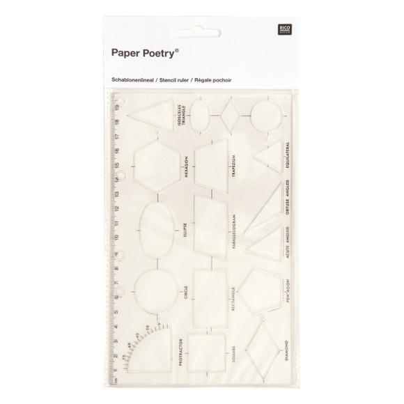 Achat en ligne Règle pochoir 17 formes géométriques