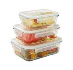 acquista online Contenitore rettangolare vetro per conservare gli alimenti 650ml