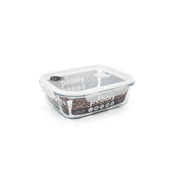 Contenitore rettangolare vetro per conservare gli alimenti 2250ml