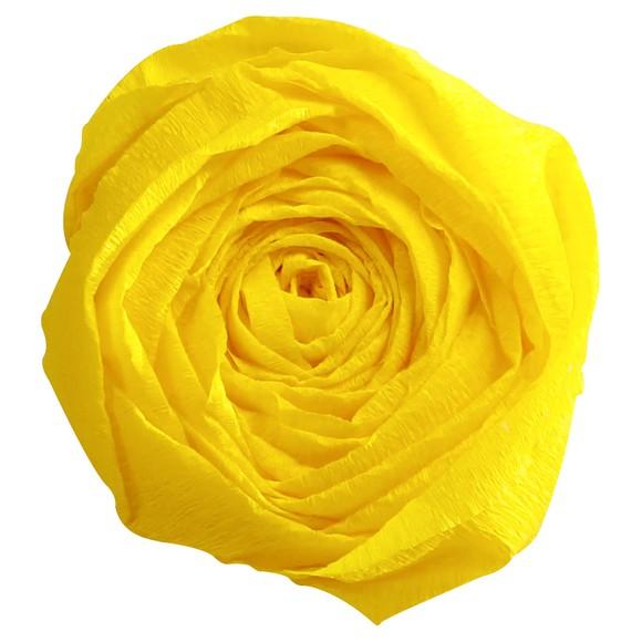 Papier crépon jaune citron 2,50x0,50m