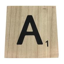Achat en ligne Lettre A scrabble en bois 10x10x0,6cm