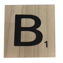 Achat en ligne Lettre B scrabble en bois 10x10x0,6cm