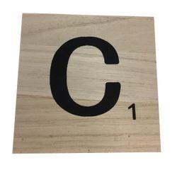 Achat en ligne Lettre C scrabble en bois 10x10x0,6cm