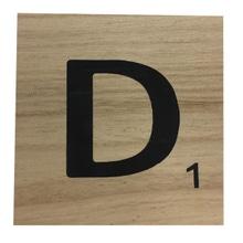 Achat en ligne Lettre D scrabble en bois 10x10x0,6cm