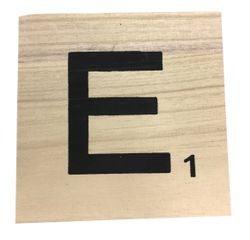 Achat en ligne Lettre scrabble deco bois E 10x10x0,6cm